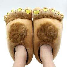 Funny Winter Big Feet Warm Soft Plush Slippers Novelty Gift Adult Shoes T1Y6