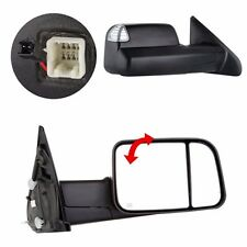 L/R Power Heated Telescoping Tow Mirror For 98-01 Dodge Ram 1500/98-02 2500 3500