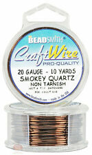 Smoky Quartz 20GA Round Craft Wire Jewelry Beading Wrapping Jump Rings 10 Yds