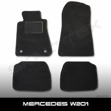 Fußmatten Mercedes-Benz 190 W 201 (1982-1993) Passform Autoteppich schwarz 4tlg.