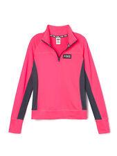 VICTORIA'S SECRET Pink Women's Ultimate Sweater Half Zip Neon Pink Small NWT