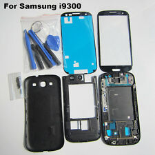 Replacement black parts front outer glass case for samsung galaxy s3 i9300 cover