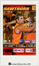 2004 AFL Teamcoach Trading Card Red Captain C8 Shane Crawford (Hawthorn)