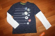 NWT Gymboree Star Brights Size 4 Blue Planets Soccer Ball Shirt Top
