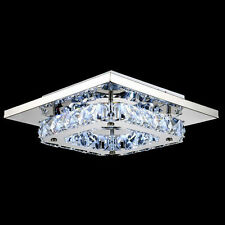 Modern Chandelier Ceiling Light LED Lamp Fixture Pendant Crystal Lighting US SUP