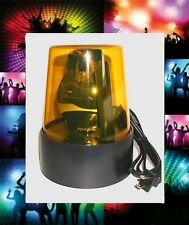 (1) ELECTRIC~ AMBER YELLOW REVOLVING FLASHING DISCO PARTY BEACON LIGHT 110V
