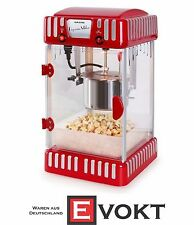 Klarstein Volcano Popcorn Machine 300W Stainless Steel Pot Red Genuine New