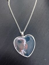 Silver Plated Heart Pendant Necklace Labyrinth Sarah Goblin King David Bowie