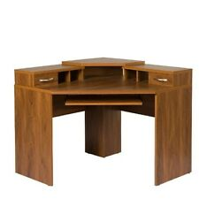 OS American Furniture Classics Corner Desk w/Monitor Platform Autumn Oak 22110