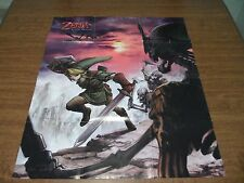 Vintage ZELDA Twilight Princess Two Sided Poster 29 x 24 Game Map 2006 Link