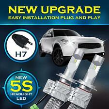 2X H7 180W 18000LM PHILIPS Car LED Headlight Kit Bulbs 6500K White LED Headlamp