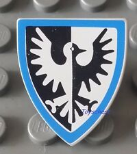 LEGO FALCON TRIANGULAR SHIELD BLUE & GREY for CASTLE KINGDOMS MINIFIG