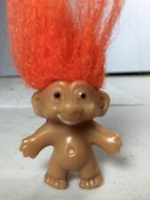 """Orange Hair RUSS TROLL 1.5"""" Naked - Unique Look - Fits on Pencil"""