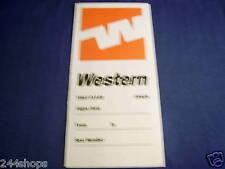 VINTAGE WESTERN AIRLINES TICKET JACKET F/C Y/C - 1982