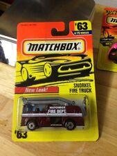Matchbox Snorkel Fire Truck #63 Burgundy Gp