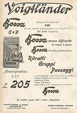 W7828 Apparecchio Fotografico VOIGTLANDER Bessa - Pubblicità del 1929 - Old ad