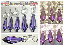 5 CHANDELIER WEDDING WISHING TREE CRYSTALS DROPS XMAS DECORATION BEADS PRISMS BN