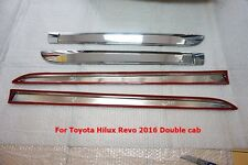 TOYOTA HILUX REVO 4WD CHROME SIDE DOORS BODY MOLDING MOULIDING TRIMS SET OF4