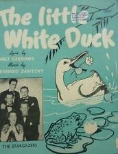 Vintage THE LITTLE WHITE DUCK MUSIC SHEET comic song frog STARGAZERS 195o