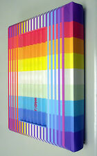 YAACOV AGAM Torah with 3-D Rainbow Polymorph cover * Bible *  signed * New *
