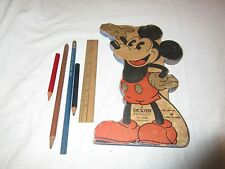 Vintage 1930's Disney Mickey Mouse Dixon Student Pencil Set Case no. 2760 BIN