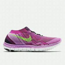 Wmns Nike Free 3.0 Flyknit - UK 4.5 (EUR 38) Black/Raspberry Red/Fuc 718420-005