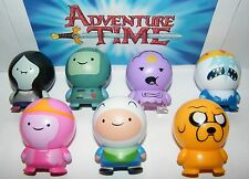 Adventure Time Buildable Figure Set of 7 with Finn, Jake and Bonus Tattoo