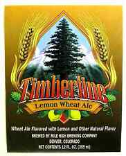 Mile High Brewing Co TIMBERLINE LEMON WHEAT ALE  beer label CO 12oz