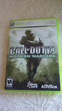 Call of Duty 4 Modern Warfare XBOX 360 Video Game M Mature Live