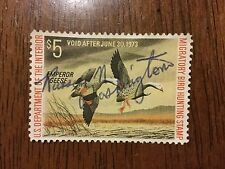 US RW39 1972 Duck Stamp used/signed