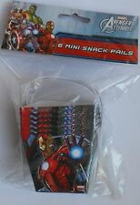 Party Pails AVENGERS Iron Man Mini Snack Candy Treat Favors Box Birthday 6 Pack