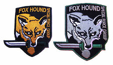 METAL GEAR Fox Hound Special Force Group Set of 2 Embroidered Logo PATCHES