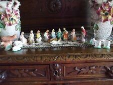 Vintage Christmas Nativity Set Plaster Many Animals Holy Family Shepherds Kings