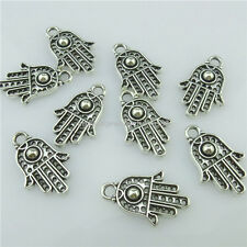 14707 50PCS Antique Silver Faith Religions Hollow Hamsa Hand of Fatima Pendant