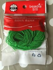 Brand New & Sealed - Packet Of 25 Metres Green Elastic Cord - 1mm Wide