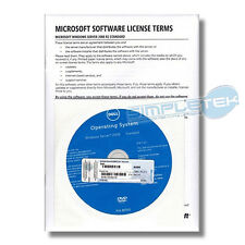 LICENZA WINDOWS SERVER 2008 R2 STD DELL ORIGINALE COA STICKER NUOVO + DVD