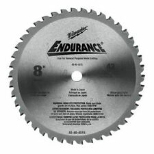 "NEW MILWAUKEE 48-40-4515 ENDURANCE 8"" 42 TPI CARBIDE CIRCULAR SAW BLADE SALE"