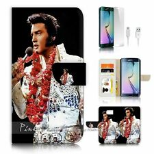 Samsung Galaxy ( S7 Edge ) Flip Wallet Case Cover P0133 Elvis Presley