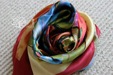"Fashion Scarf  van gogh oil painting 100% silk twill Size 34""x34"""