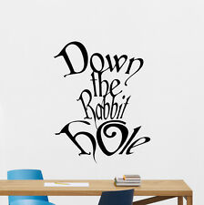 Down The Rabbit Hole Wall Decal Alice In Wonderland Vinyl Sticker Mural 47crt