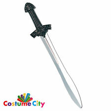 Medieval Black Knight Prop Crusader Sword Fancy Dress Costume Accessory