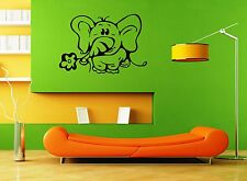 Wall Stickers Vinyl Decal for Kids Nursery Elephant Cute Animal Baby ig1352