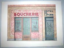 Illustration Une boucherie et un Hotel à Marseille - Portfolio sur la ville