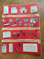 1945 Westinghouse Appliance Ad  Hats Off to Retailers & Service Men on the Job
