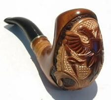 New Hand carved TOBACCO SMOKING PIPE Fashion * Russian Eagle * for 9 mm filter