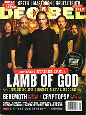 DECIBEL No. 087 January 2012 LAMB OF GOD Behemoth Nergal Cryptopsy Cynic Krisiun