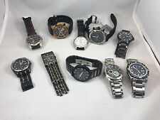 Watch Wholesale Lot Bulova Men's Stainless Steel For Repair (10 watches total)