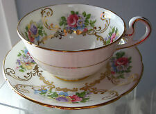 Vintage Royal Grafton  Cup & Saucer  England, Roses Chabby Victorian Wedding