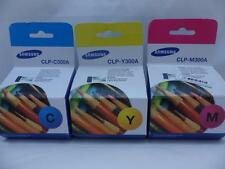 Lot Of 3 Genuine OEM Samsung Toner CLP-Y300A CLP-C300A CLP-M300A New