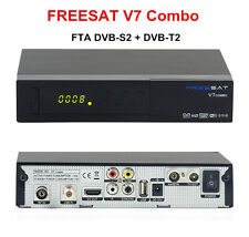 Genuine Freesat V7 Combo FTA DVB-S2/DVB-T2 HD Digital Satellite Receiver PowerVu